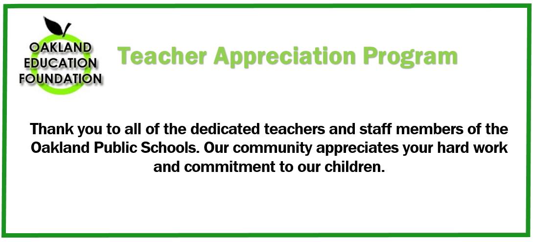 2014 Teacher Appreciation Program